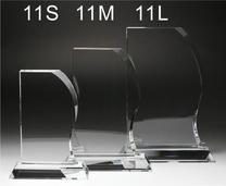 クリスタル盾ウェーブ型(L)
